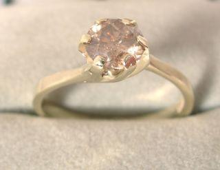 Diamantring Solitär 0,77ct in 585 Gold mit Zertifikat