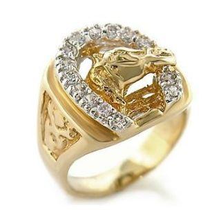 Isady – Elvis   Herren Ring   585er 14K Gold platiert Zirconium