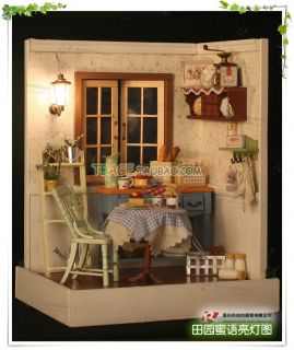 Puppenhaus Dollhouse Miniatur Luck Town DIY Spielzeug Puppenstube