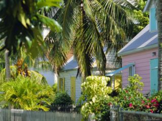 Hope Town, 200 Year Old Settlement on Elbow Cay, Abaco Islands, Bahamas, Caribbean, West Indies Photographic Print by Nedra Westwater