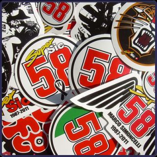 Marco Simoncelli Aufkleber Vinyl Sticker Super Sic Decal Superbike
