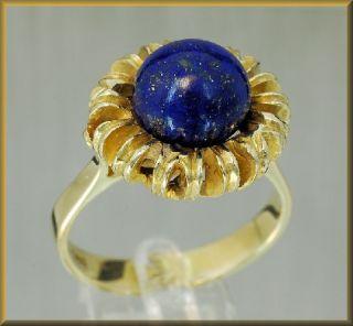 / Lapis   Ring miit Lapis Lazuli aus 585´er Gold Gr. 56
