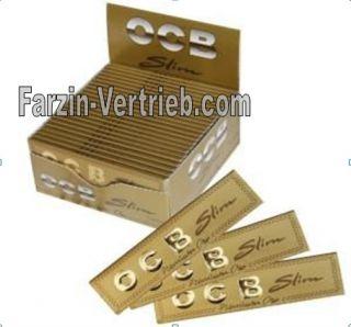 50 x OCB Premium slim ro gold KS Rolling Paper