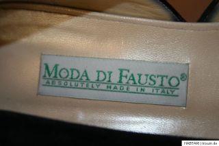 Damen Marken Pumps   Moda di Fausto Italy, Wildleder Blau Schwarz