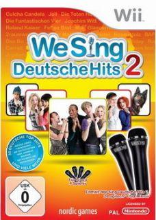 We Sing Deutsche Hits 2 + 2 Microphone Wii Neu/OVP 7340044302412