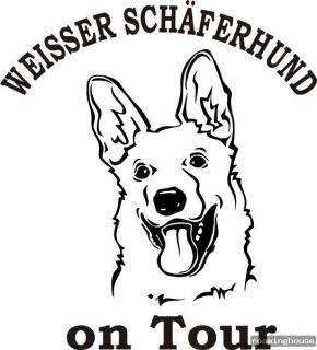 Weisser Schäferhund  Aufkleber   Autoaufkleber  Neu