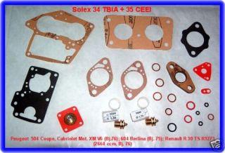 Solex TBIA,CEEI,Vg.Kit,Peugeot 604,Renault R 30,Alpine