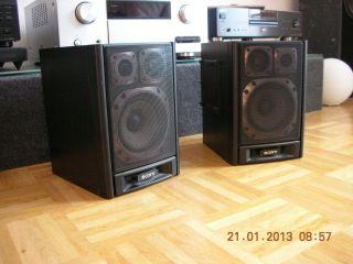 Sony SS H 616 top 3 Wege Lautsprecher Boxen Stereoanlage schwarz super
