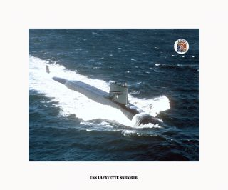 USS LAFAYETTE SSBN 616   Boomer, US Naval submarine , USN Navy