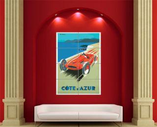 COTE DAZUR FRENCH RIVIERA ADVERTISING GIANT WALL PLAKAT PRINT EN612