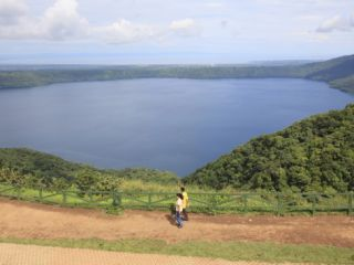Laguna De Apoyo, a 200 Meter Deep Volcanic Crater Lake Set in a Nature Reserve, Catarina, Nicaragua Photographic Print by Wendy Connett