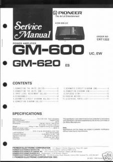 Pioneer Original Service Manual f. CAR GM 600 /620