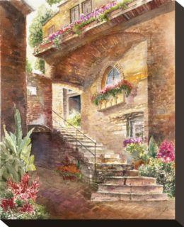 Manarola Stretched Canvas Print by Rita Zaudke
