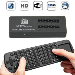 Dual core mini Android 4.1TV Box MK808 mini pc + Air Fly Mouse RC12