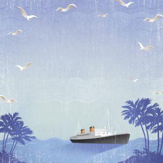 CUSTOM SCRAPBOOK PAPER TRAVEL CRUISE BEACH VACATION SET