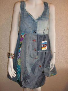 Desigual Vest Circolor Jeans Kleid Unikat Neu Sommer Winter Kleid Gr