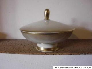 Rosenthal AIDA creme gold große Deckeldose Porzellandose Bonbonniere