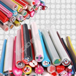 100X Blumen Nail Art Nagel Tattoo Sticker Stab + Blade