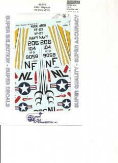Superscale Decal 48 645 F4D 1 Skyrays VF 23 & VF 51