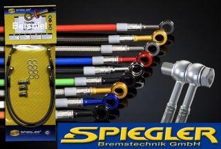 SPIEGLER Stahlflex Bremsleitung vorn Kawasaki GPZ 500 S GPZ500S GPZ500