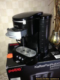 Petra KM 30.27 Kaffee Pad Automat Padmaschine Padissima in Schwarz
