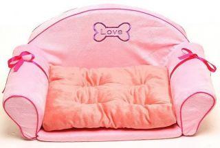 Princess Pink Dog Cat Sofa Bed House Kennel Medium