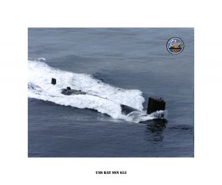 USS RAY SSN 653   Nuclear Attack Submarine , USN Navy Photo Print