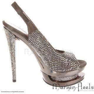 Pleaser DAY & NIGHT Luxus Double Platform High Heel Sling Pumps