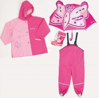 Regenanzug Jacke Hose Gr. 80 86 92 98 104 116 128 140 pink