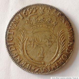 Frankreich 1 ECU 1694 Ludwig Louis XVI. Silber