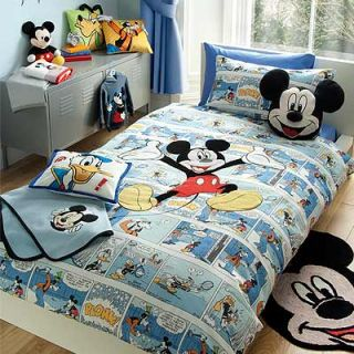 Disney Micky Maus Bettwäsche Set   Comic Strip   bunt   200 x 200 cm