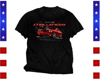 Dodge Challenger T Shirt Front Print Black