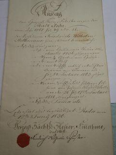 Urkunde, Herzoglich Sächsische, Steuereinahme, Stadtroda, Roda