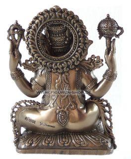 Buddha Ganesha auf Lotusthron   Figur Statue Veronese bronze