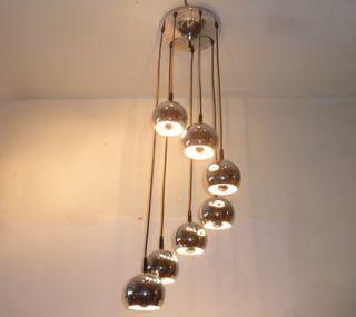 70 Jahre Design Kaskadenlampe Chrom Deckenlampe Lampe Panton Ära