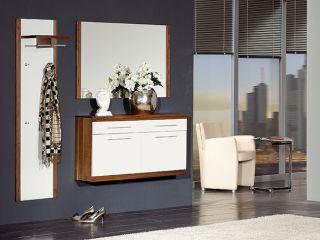 Garderobe Primera Dielenmöbel Nussbaum Echtholz furn.