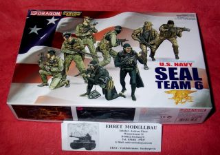 Navy Seal team 8 Figuren in 135 Dragon Neu