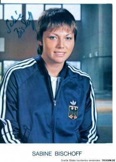 Sabine Bischoff TOP AK 80er Jahre Orig. Sign. +A 13070