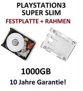 1TB HDD Festplatte für PS3 SUPER SLIM + EINBAURAHMEN Sony Playstation