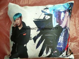 TOP ~ BIG BANG BigBang Photo Cushion Pillow Cover /Pillowcase Satin Q3