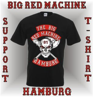SUPPORT 81 Hoodie BIG RED MACHINE HAMBURG Kapuzen Sweatshirt Axe