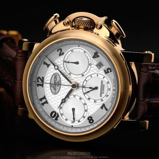 BURAN V.M.  Poljot Chronograph 31681 premium Russian mechanical watch