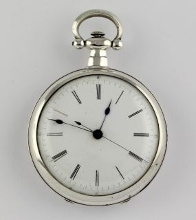 Signed Extra large Duplex style Chinese market Pocket watch 1850 57mm