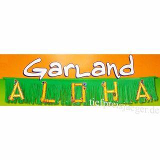ALOHA GIRLANDE # Karneval Fasching Hawaii Hula Südsee Karibik Party
