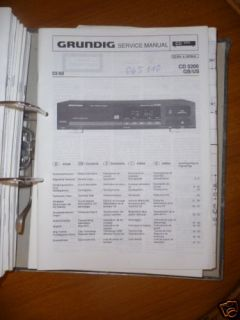 Service Manual Grundig CD 5200 CD Player,ORIGINAL