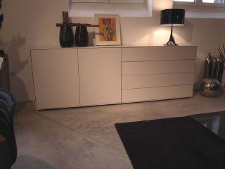 Interlübke   Sideboard Cube Lack Platin matt   LP 5.712,  EUR
