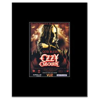 OZZY OSBOURNE   God Bless   Black Matted Mini Poster