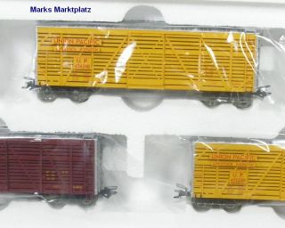 H0 3 tlg. Viehwagen Stock Car Set Union Pacific Märklin 45690 NEU OVP