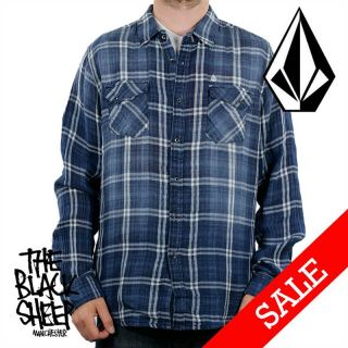 Herren Shirt Hemd Volcom Apparel Lambert Langarm Retro Skater Shirt