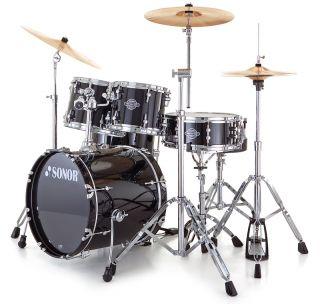 SONOR Smart Force Xtend Studio Set Black Drumset Schlagzeug komplett B